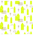 neon green houses baby fabric seamless vector image