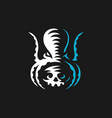 octopus logo emblem design vector image