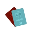 Passports icon in flat style vector image