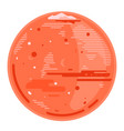 planet mars in flat style vector image vector image
