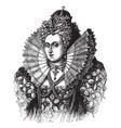queen elizabeth i of england vintage vector image vector image