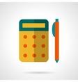 School supply flat icon Yellow calculator vector image vector image