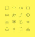 science linear icon set simple outline icons vector image vector image