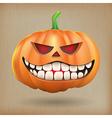 Sneer pumpkin vintage background vector image vector image