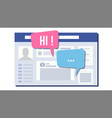 social page design speech bubbles social vector image