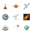 Space icons set cartoon style vector image vector image