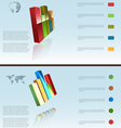 statistic bars vector image vector image