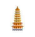 traditional taiwan temple historic building vector image vector image