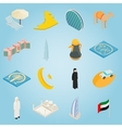 UAE set icons isometric 3d style vector image vector image