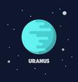 uranus on space background vector image vector image