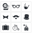 Vintage Hipster Icons icons set vector image vector image