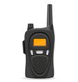 walkie talkie 04 vector image