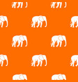 wild elephant pattern seamless vector image vector image