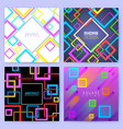 abstract geometric backgrounds with color vector image