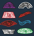Basketball text badges variations vector image