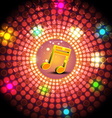 music festival with glowing light vector image
