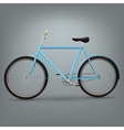 Blue bicycle vector image