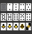 Club Suit Playing Cards Full Set vector image