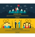 Leadership and business banners set vector image