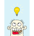 light bulb over your head vector image