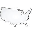 map usa vector image