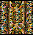 3d modern gold vintage seamless pattern colorful vector image vector image