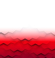 Abstract frame with red waves vector image vector image