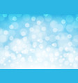 abstract white bokeh light on blue luxury vector image vector image