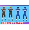 american football jersey vector image