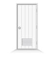 Bathroom door on isolate background vector image vector image