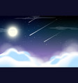 beautiful sky at night vector image