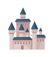 big fairy tale castle with high towers and conical vector image vector image