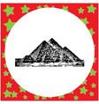 black 8-bit giza pyramids egypt vector image vector image