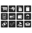 Black Online shop icons vector image vector image
