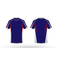 blue red and white layout e-sport t-shirt design vector image vector image