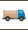 blue truck car with wooden pick-up body vector image vector image