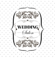 bridal salon signboard with ornamental elements on vector image vector image