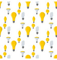 cartoon lamps old light bulb seamless pattern vector image vector image