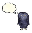 cartoon owl with thought bubble vector image vector image