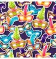 Celebration festive pattern with carnival masks vector image