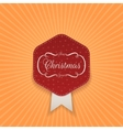 Christmas realistic red Label with Snowflakes vector image vector image
