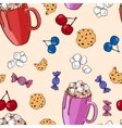 Colorful Sweet Food Pattern vector image