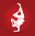 dancing action dancer training graphic vector image vector image