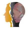 depression male head vector image