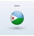 Djibouti round flag vector image vector image