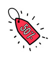 Doodle red sale 50 percent tag label