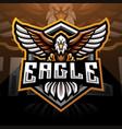 eagle esport mascot logo design vector image vector image