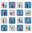 Family and people flat icons vector image