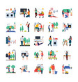 family housewife family walking outdoor flat ic vector image