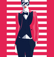 fashion woman in style pop art fashion art vector image vector image